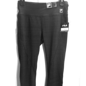 New Fila Sport Sz S Black Stretch capris crop pant